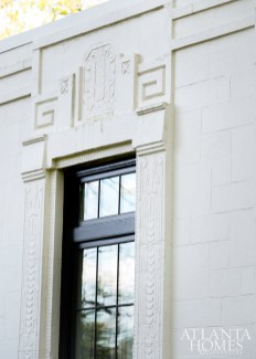 The Greek-key and floral reliefs on the façade speak to the theatrics of Art Deco style.