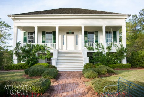 Nineteenth-century bricks lead to the period house restored by Atlanta architect Rick Spitzmiller of Spitzmiller & Norris.