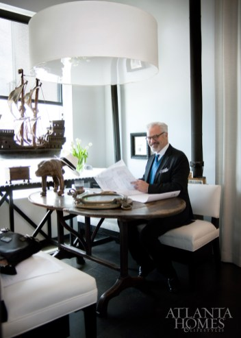 """""""Each of our partners feel the buoyancy and empowerment of working in a beautiful setting,"""" says McAlpine, pictured in his Atlanta office. """"We do for ourselves what we ask others to do, and it's a beautiful investment."""""""