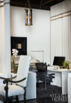 An elegantly appointed and divided workspace for a McAlpine architect.