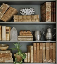 Debbie's collection of pewter and vellum books mix marvelously.
