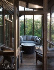 A private porch off the master.