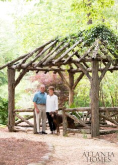 Jim and Carole McWilliams with their doberman pinscher, Lucy.