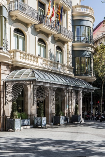 Entrance to the Majestic Hotel and Spa in Barcelona