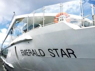 The Emerald Star docks at Amsterdam.