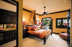 Luxe accommodations feature a blend of old-world Spanish style with Dutch Colonial accents.