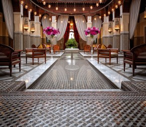 Lobby of the Royal Mansour Marrakech