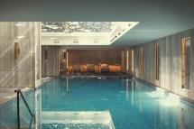 Indoor pool at Raffles Istanbul.