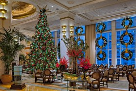 The Peninsula Chicago is a vision of over-the-top glamour during the holidays.