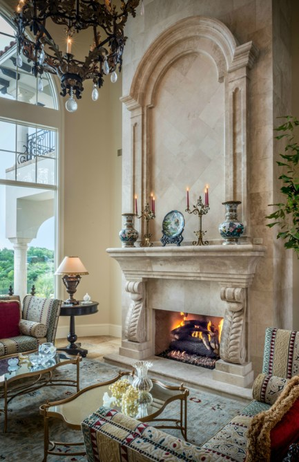 Natural stone fireplaces and surrounds by Materials Marketing are each a unique work of art.