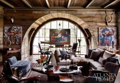 """""""With our work in the West, we are used to reclaimed materials and were thrilled to see the barn board be utilized in the space."""" —William Peace"""