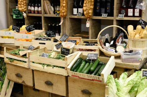 Food tours in Paris take guests shopping for fresh produce, wines and fabulous French pastries.