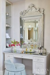 A personal vanity was among Teresa's requests for the master bathroom, so Edwards designed a custom table with Norman Hasty Carpentry.