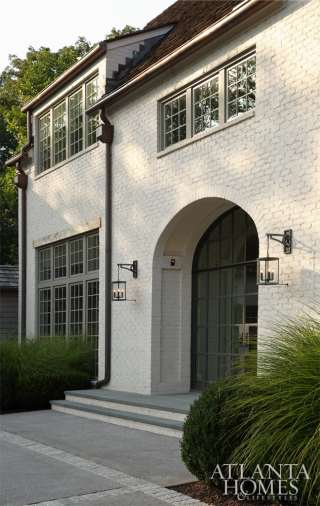 English-inspired architecture was fitting for this Buckhead home's traditional environs.