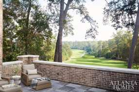 The third-floor balcony overlooking the golf course has Bison Ipe wood decking and is outfitted with a handsome fireplace.