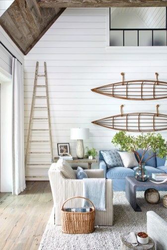 """""""We approached the project with a more casual aesthetic and were conscious about not making it look like a typical mountain house."""" —Courtney Giles"""