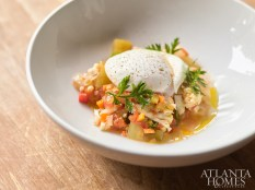 Giardiniera, made with broccoli and a slow-cooked egg.