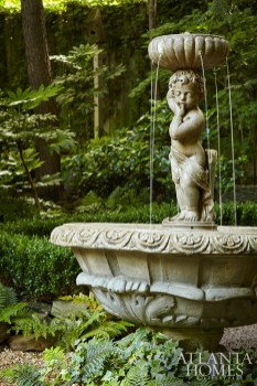 The cherub fountain is from Atlanta Water Gardens.
