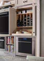 Designed specifically for the owner, who is a consummate cook, the cabinetry includes enough shelf space for her favorite cookbooks and well-organized storage.