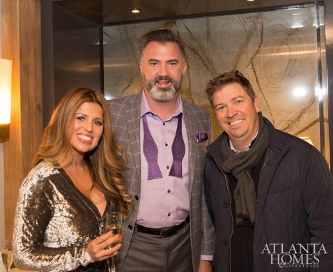 Becky and Jay Allen of Top Shop Stone with Patrick Pepin of CIOT