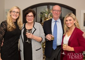 Mary Elizabeth Finkey of MTI Baths, Diane and David Parrish, Emily Brown of The O'Donnell Group