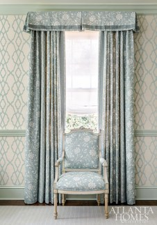"""""""This house is full of elements the homeowners love; chinoiserie, florals, animal prints and trelliage … they happen to be all the things I adore too."""" —Mallory Mathison Glenn"""