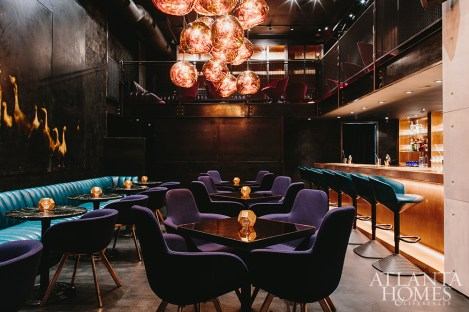 Murphy's work can also be seen in chic Atlanta restaurants, such as Japanese lounge Himitsu.