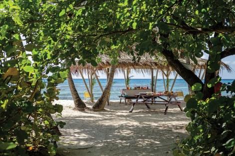 A picnic on Lagoon Beach.