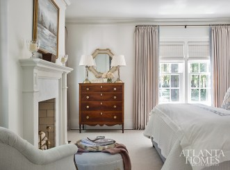 The master bedroom was designed to provide respite from the hustle and bustle of family life.