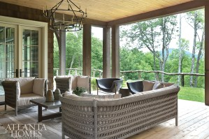 The covered loggia, with its generous conversation areas overlooking sprawling mountain views, has become the family's favorite hangout.