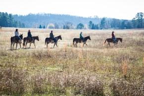 Horseback riding through the foothills.