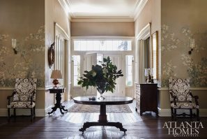 large foyer hall with antiques