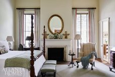antique bedroom with fireplace