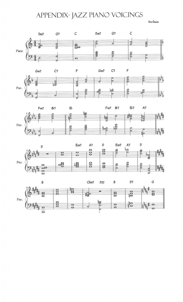 Appendix Jazz Piano Voicings