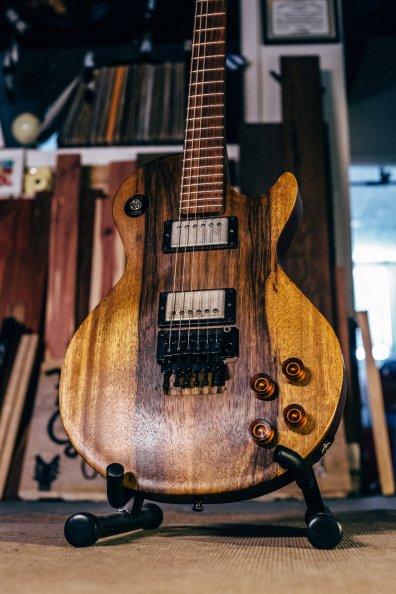 A customer's recent custom built guitar