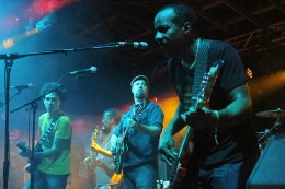 Funk Jam -Tony Hall (Dumpstaphunk), Eric Krasno (Lettuce), Ian Neville (Dumpstaphunk) - Photo by Chris Horton
