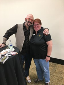 "Good Mews President Lori Trahan with Animal Planet's Jackson Galaxy from ""My Cat From Hell"""