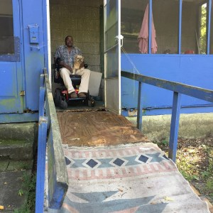 The W-Underdogs built a ramp for a wheelchair-bound man.