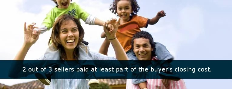 home buyers with children on shoulders