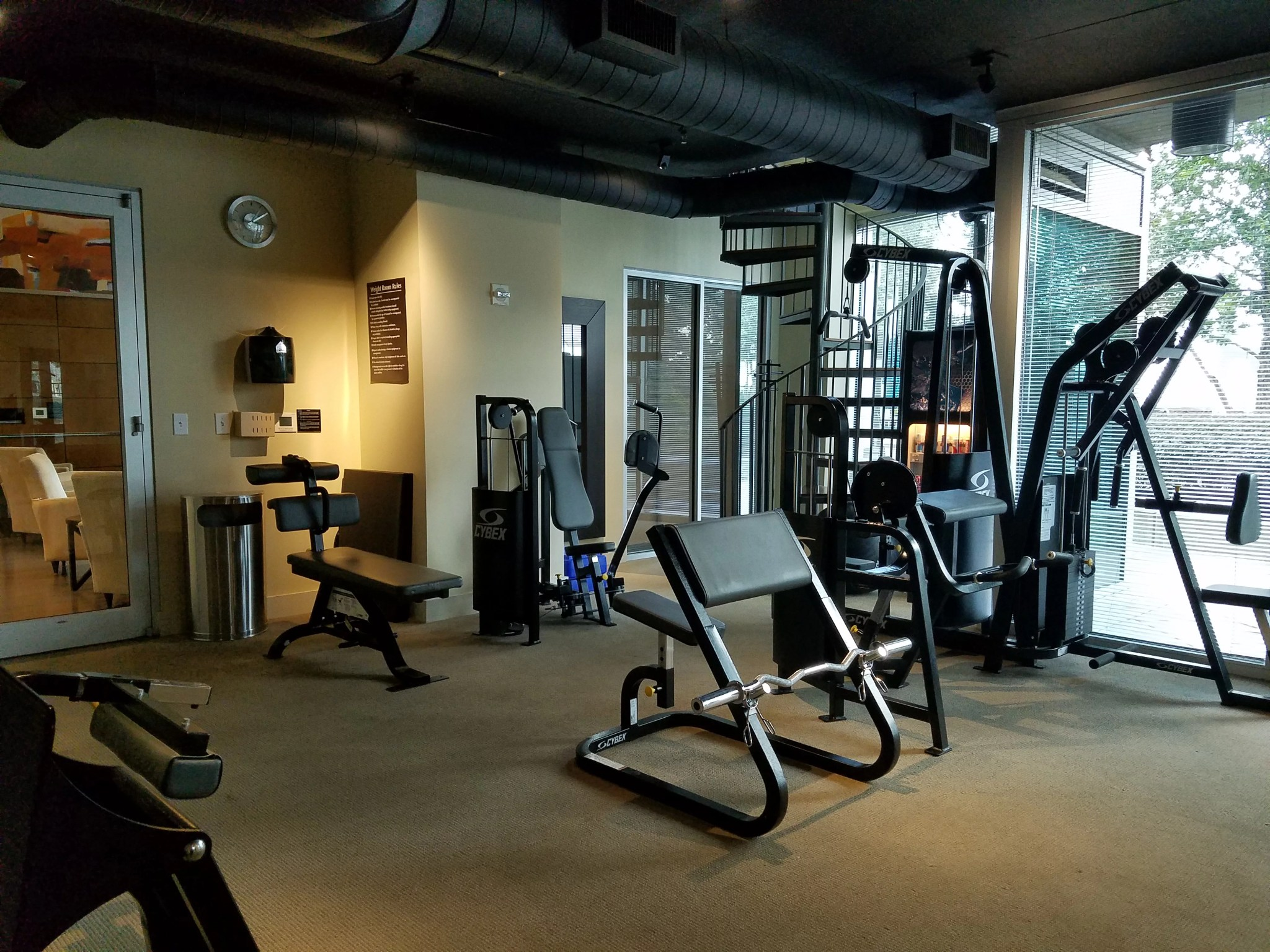 The Realm in Buckhead Gym and Fitness Room equipment
