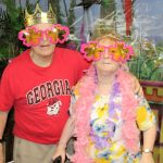Senior Couple at Tiki Party in Atlanta