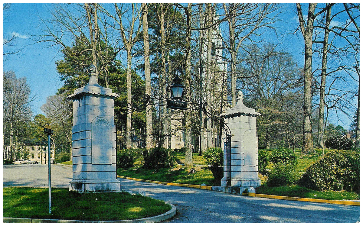 Emory University Gateway Entrance Postcard