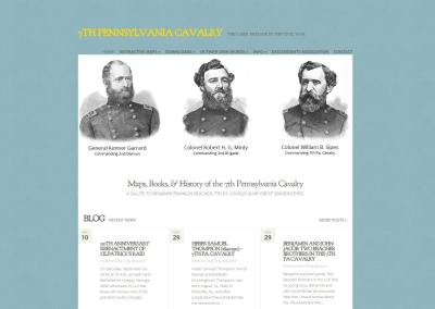 7th Pennsylvania Cavalry Website Design