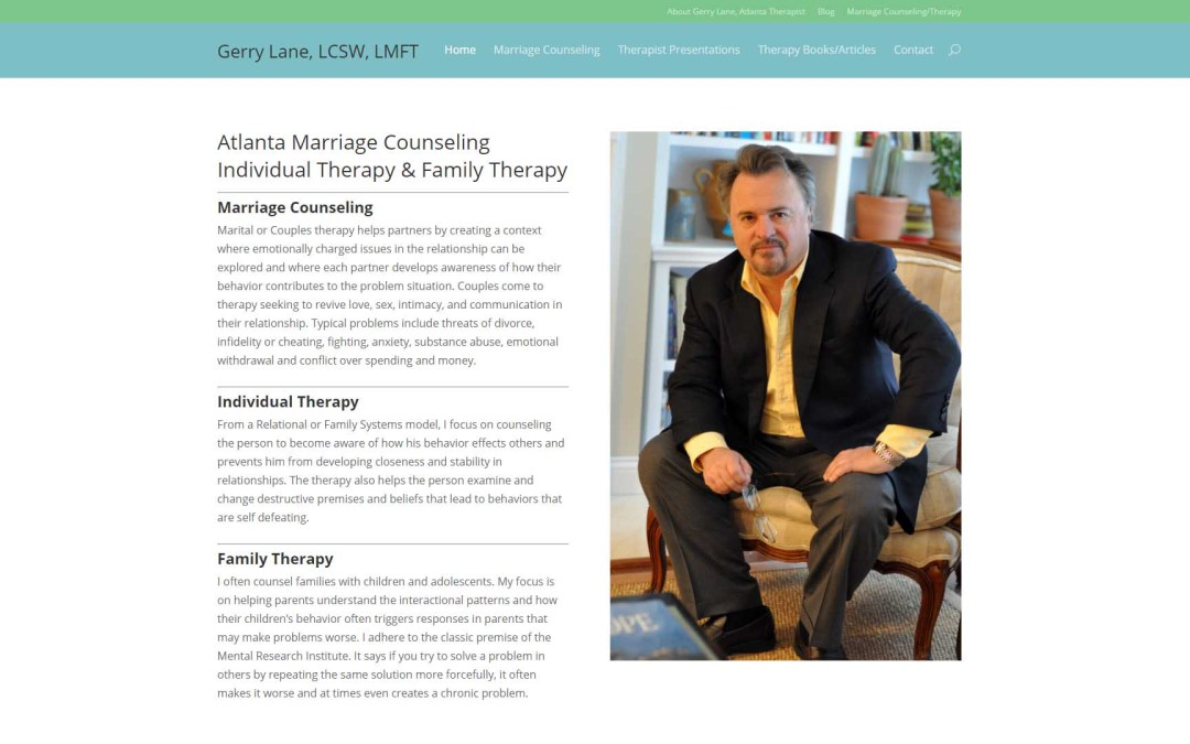 Therapist Gerry Lane Website Design
