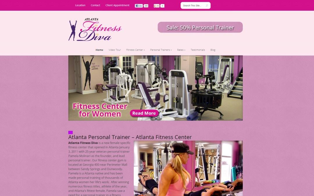 Atlanta Fitness Diva Website Design