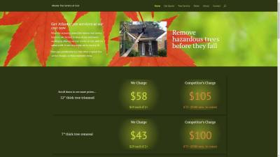 Atlanta Tree Service Website Design
