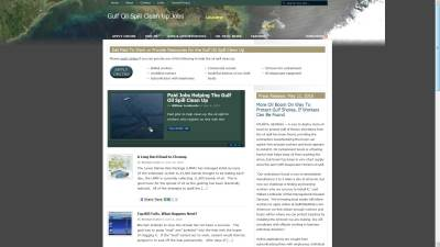 Gulf Oil Spill Jobs Website Design