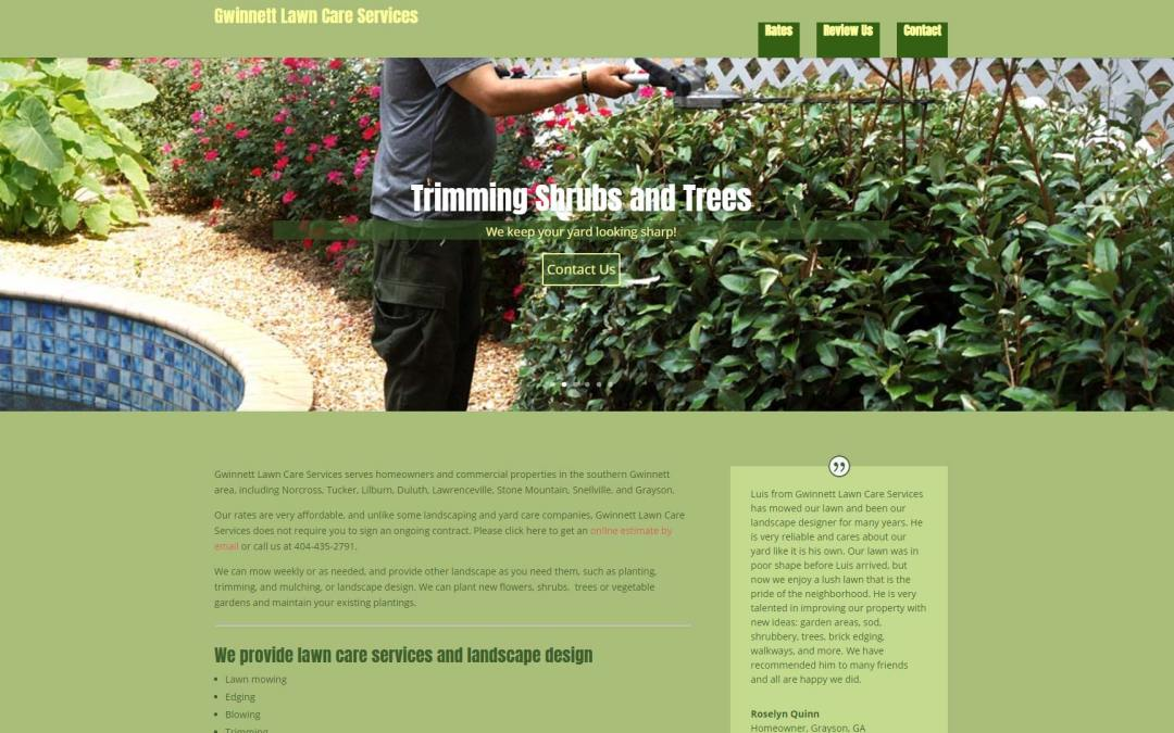 Gwinnett Lawn Care Services Website Design