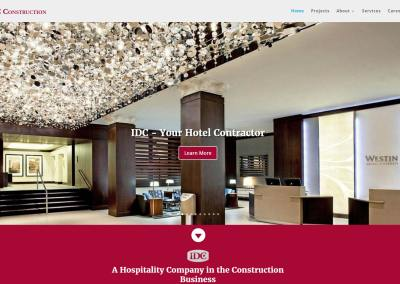 IDC Construction Website Design