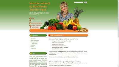 Nutritionist Jennifer Hnat Website Design